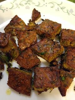 Kothimbir Vadi,coriander crisps