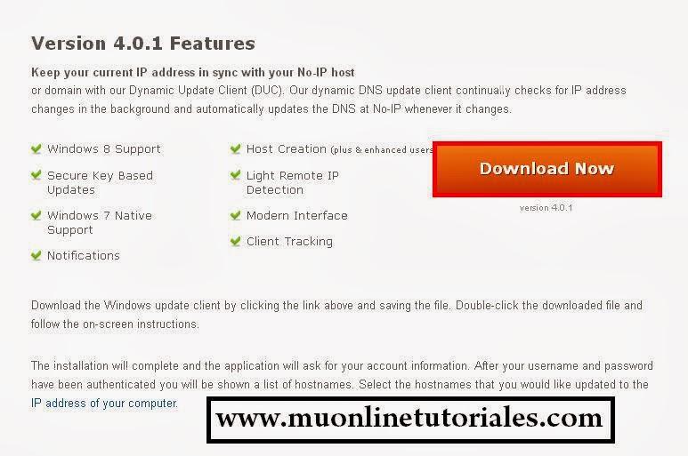 Descarga e instalación del programa ducsetup