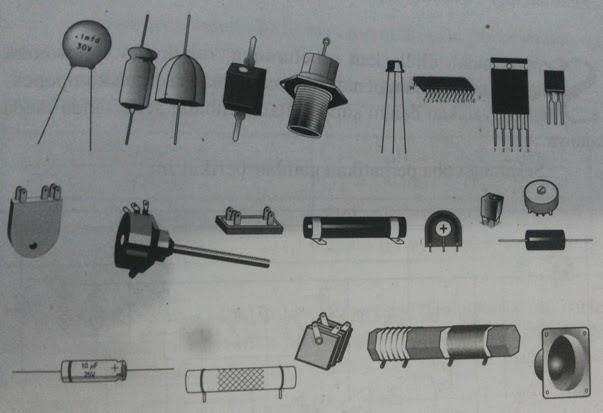 Contoh komponen-komponen elektronika