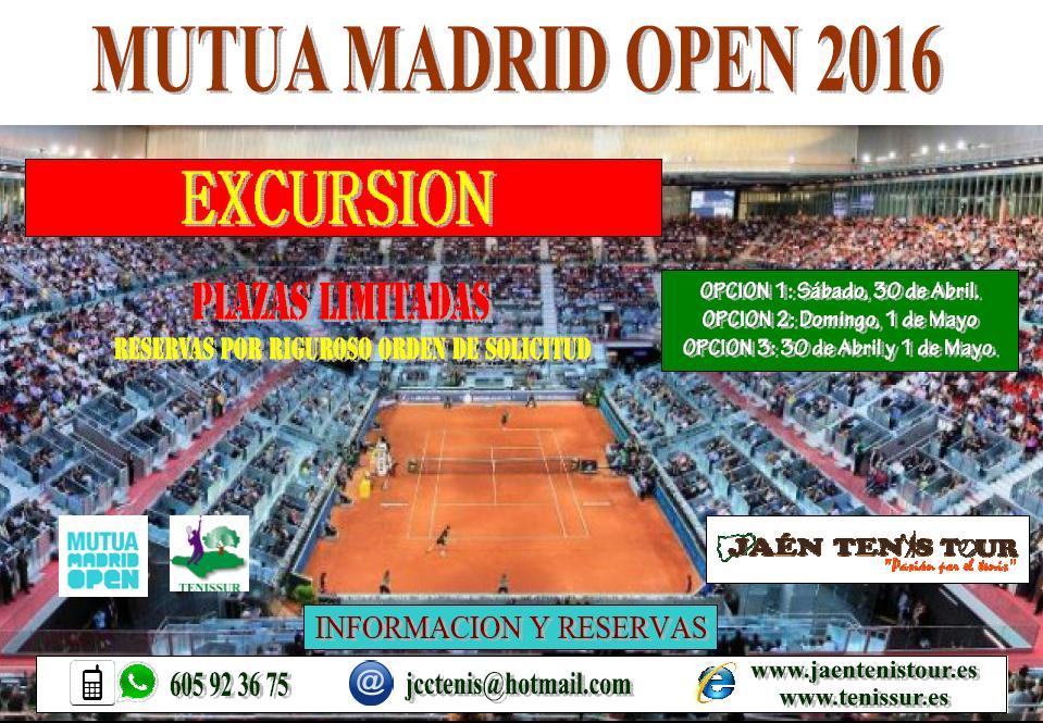EXCURSION MADRID OPEN 2016