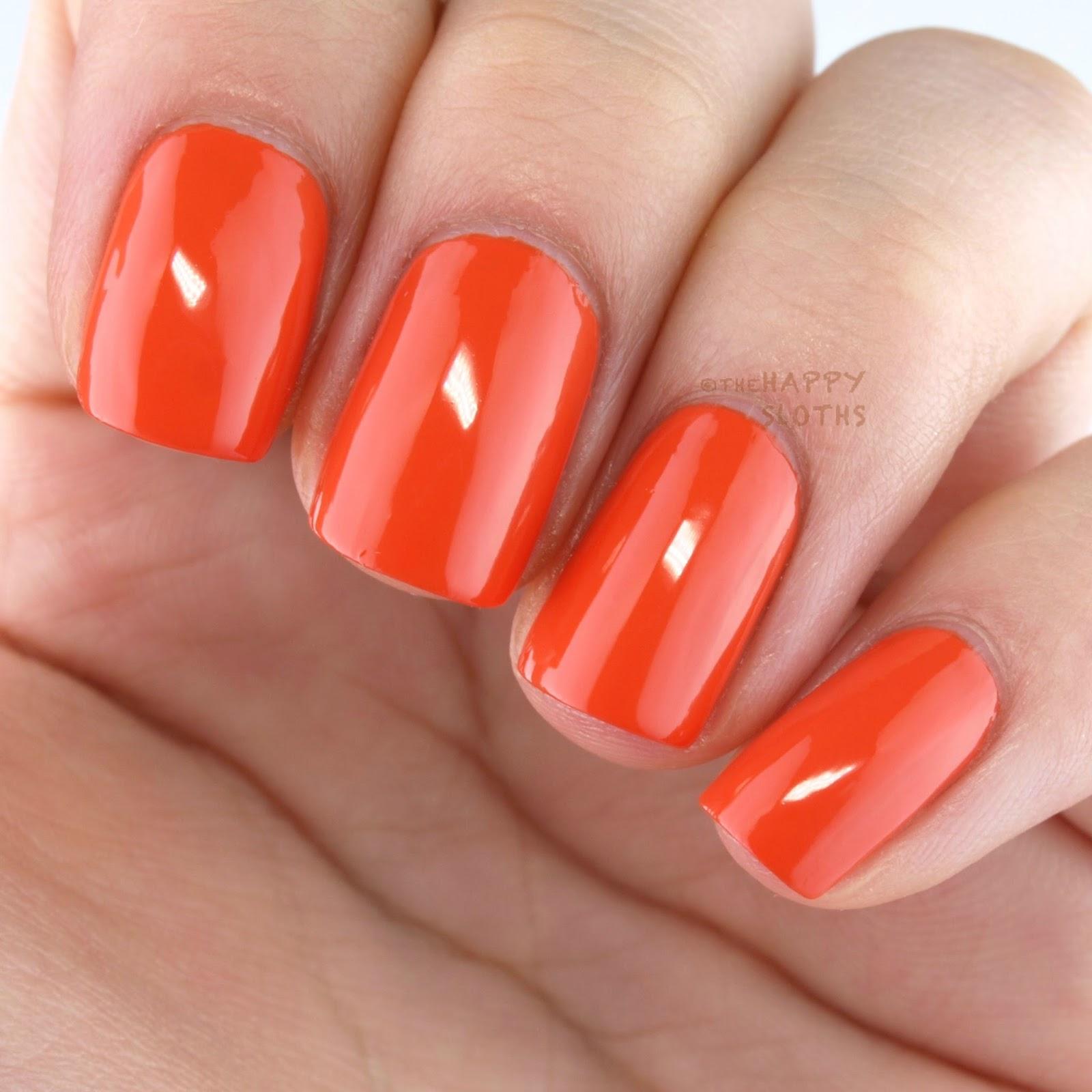 Nicole OPI The Look is Orange Swatches