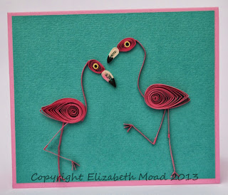 quilled flamingoes