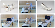 Wholesale Ladies Vintage White & Ivory Satin Bridal Shoes