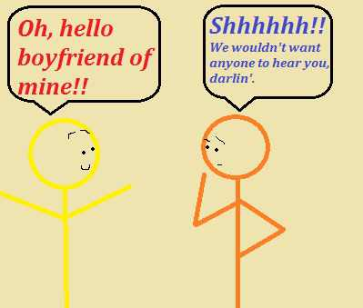 boyfriend wants to keep relationship a secret