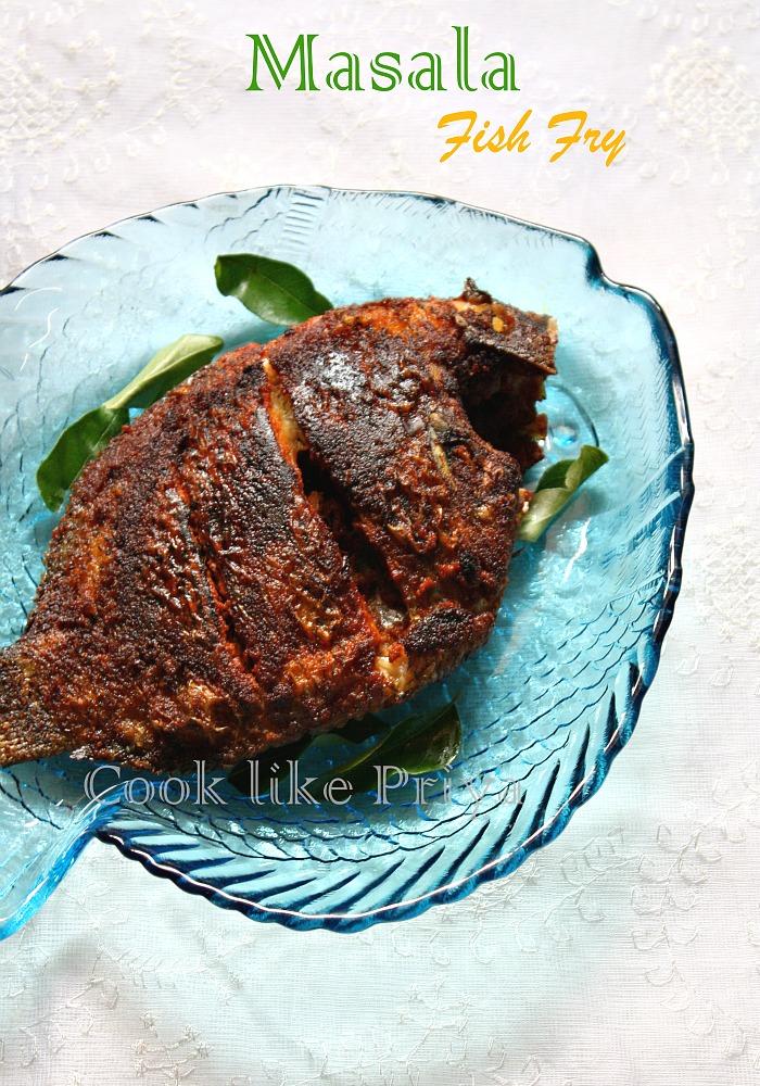 Cook Like Priya Karimeen Fry South Indian Fish Fry Recipe