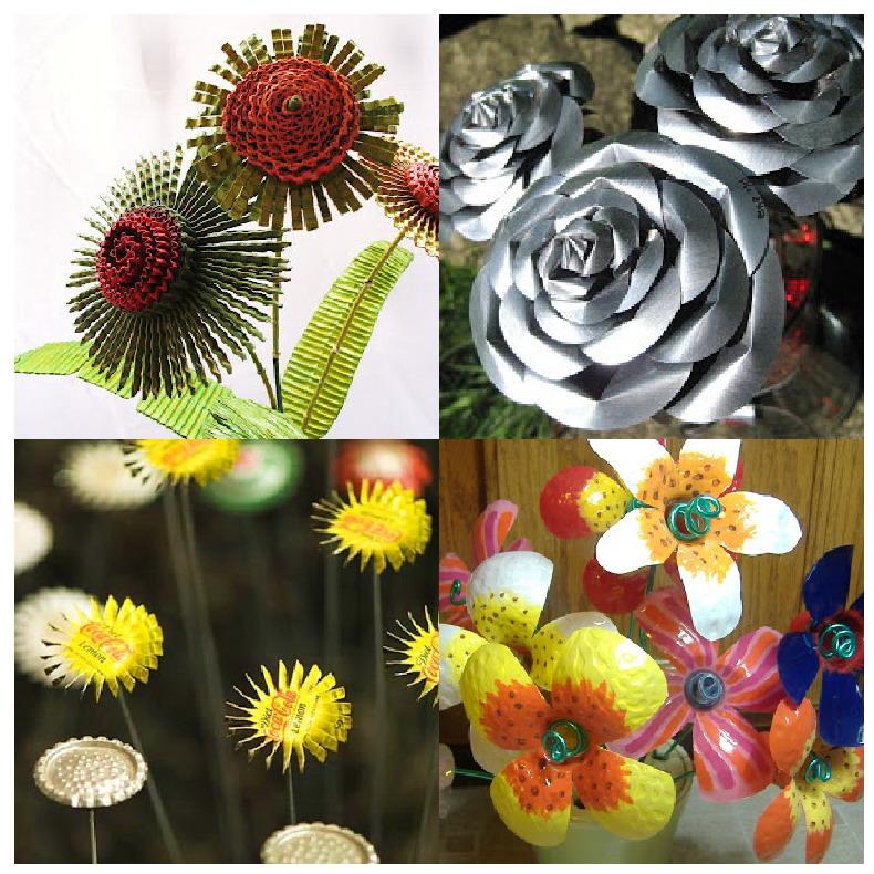 Hay Muchas Posibilidades De Hacer Flores Con Material Reciclado