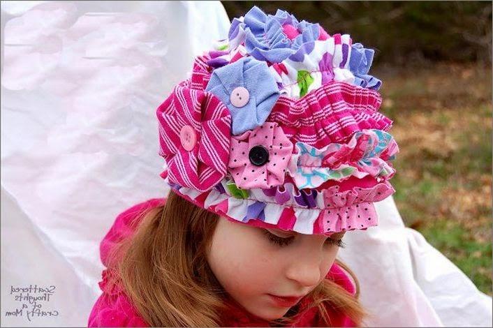 Забавная детская шапочка. Funny baby Patchwork cap.