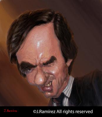 José María Aznar López caricatura caricature humor illustration