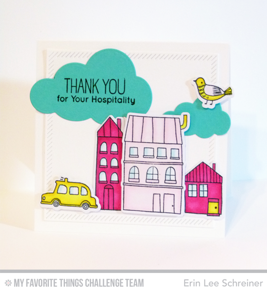 Hospitality Card by Erin Lee Schreiner featuring the London Mouse stamp set and Die-namics #mftstamps