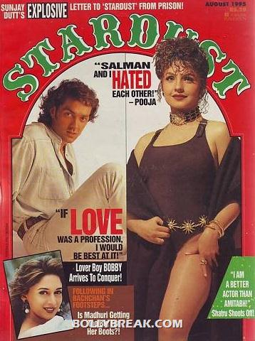 Pooja bhatt in Black Bikini on stardust cover page - Pooja Bhatt Bikini Pics on stardust cover page