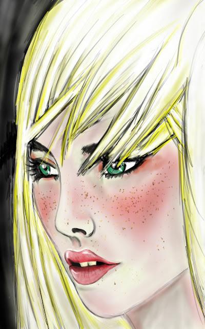 Drawing in Sketchbook pro blonde