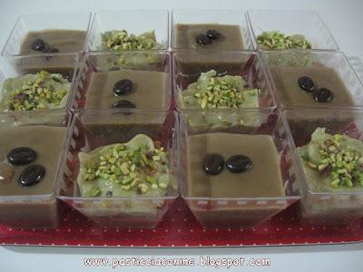 dessert monoporzione al caffè e al pistacchio