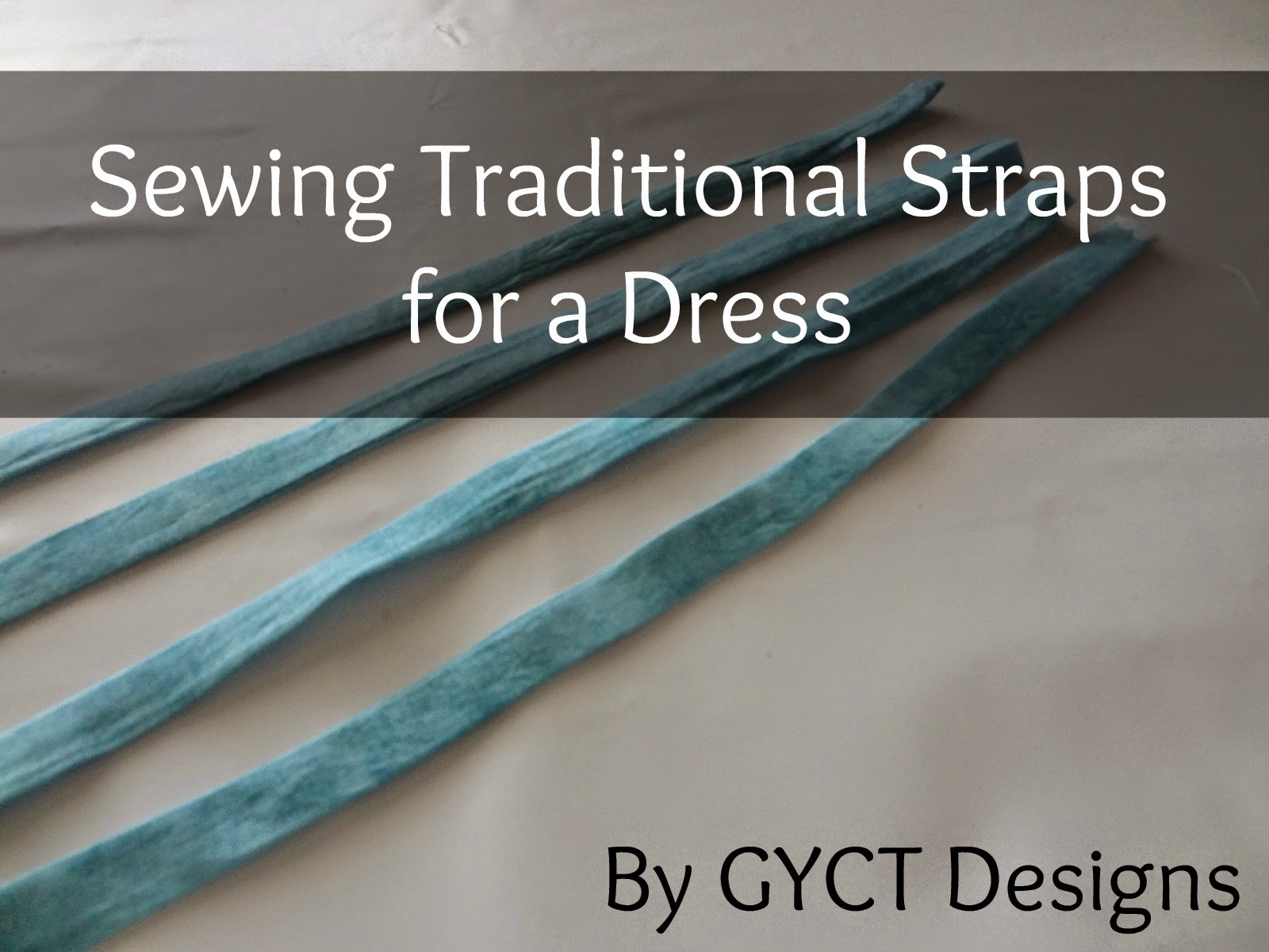 Sewing Traditional Straps to a Lined Dress by GYCT