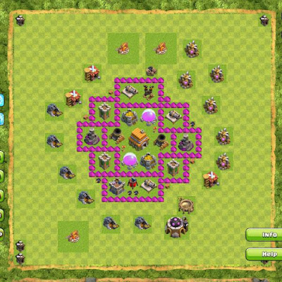 Formasi Base TH 6 Clash Of Clans Terkuat di Dunia