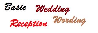 basic tips on writing wedding reception wording
