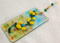 Fused glass suncatcher/wall hanging