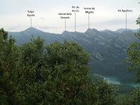 La Serra de Picancel vista després de passar el Fora del Vent