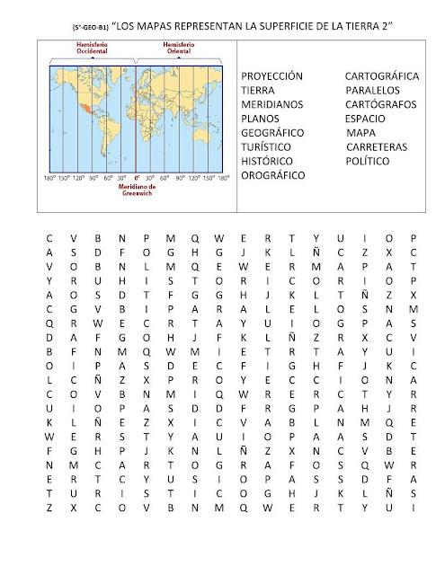 Sopa de letras mapas