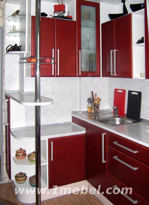 Дизайн маленьких угловых кухонь с барной стойкой