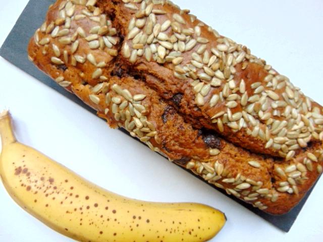 Cake végétal banane chocolat banana chocolate vegan