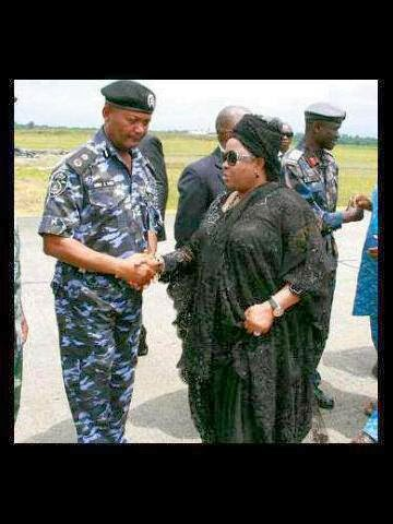 Joseph Mbu and Patience Jonathan