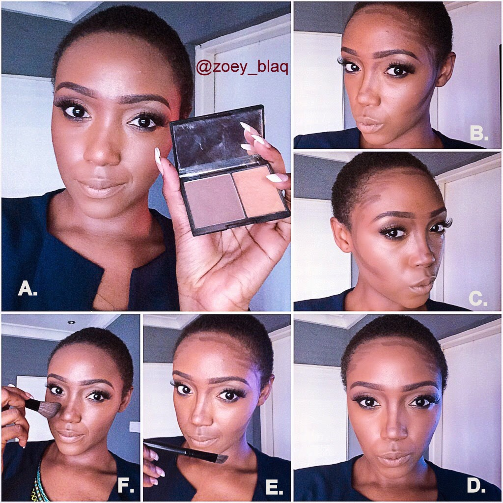 THE BLACKROSE: HOW TO HIGHLIGHT AND CONTOUR: (MY ROUTINE PICTORIAL)