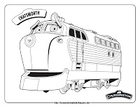 chuggington chatsworth train coloring pages