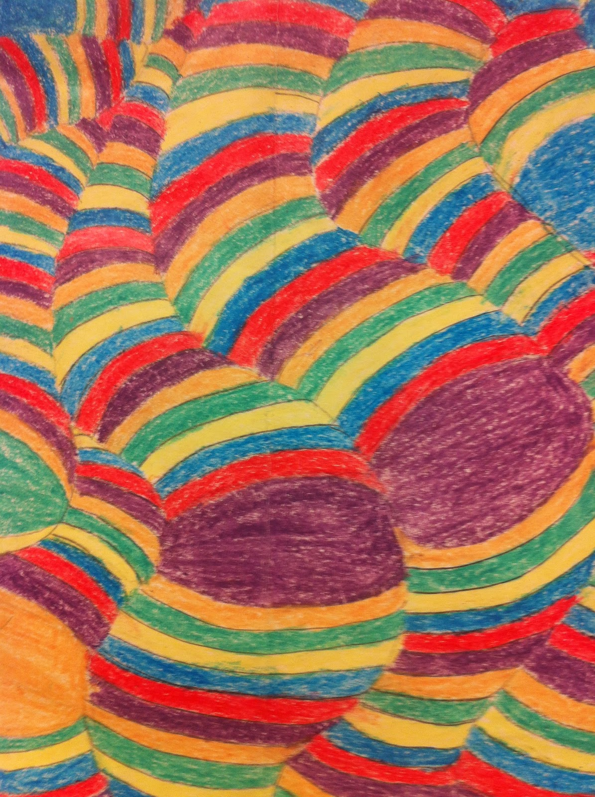 Op art uses color to create - Op Art Project Three Students Created Designs Then Colored With 3 5 Colors They Used Pattern In Their Color Choices And Were Encouraged To Use Shading