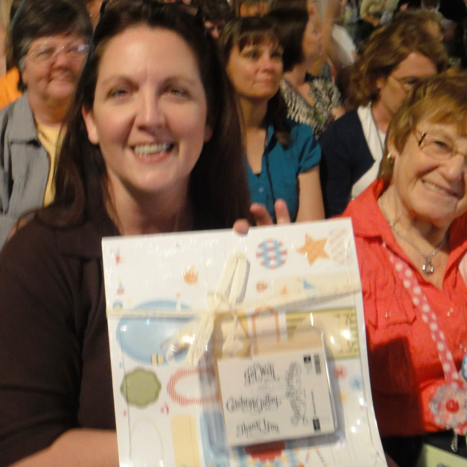 Yeah Me! I won! Thanks so much Stampin'Up! Geneva is on the right