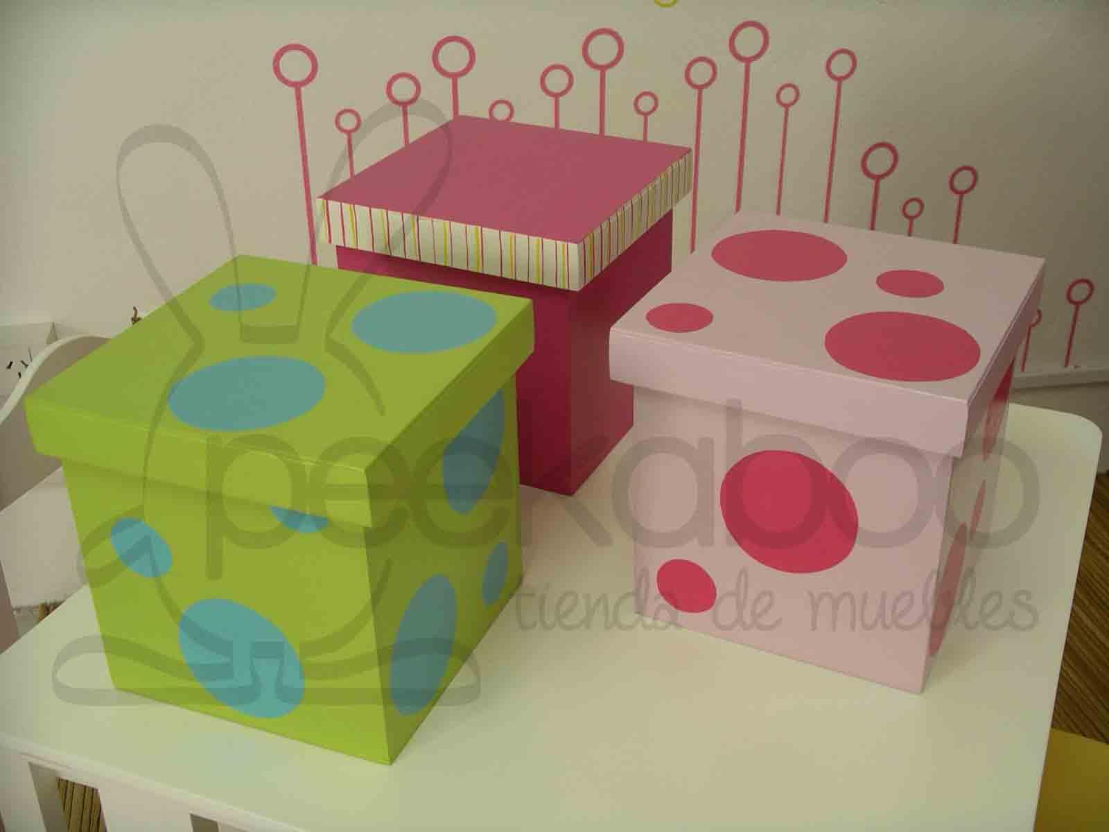 Peekaboo tienda de muebles cajas de madera decoradas infantiles - Cajas infantiles decoradas ...