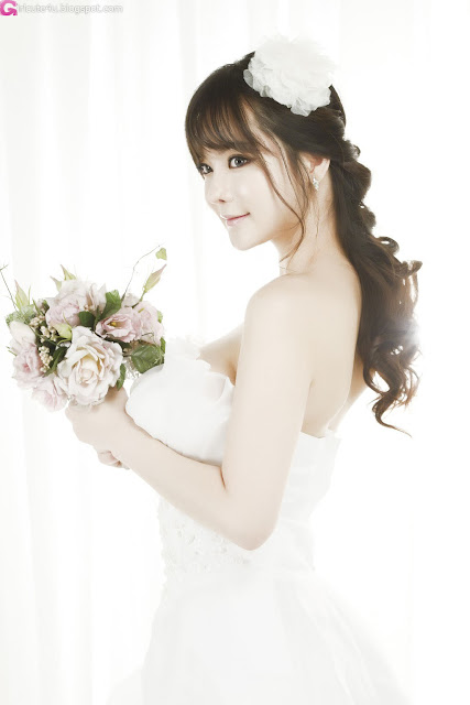 2 Im Ji Hye in Wedding Dress - very cute asian girl - girlcute4u.blogspot.com