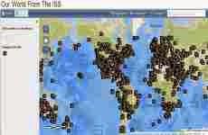 Nuestro mundo visto desde la Estación Espacial Internacional (ISS) en un mapa geolocalizado