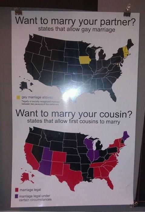 ... cousins can legally marry in more US states than (monogamous) same-sex ...