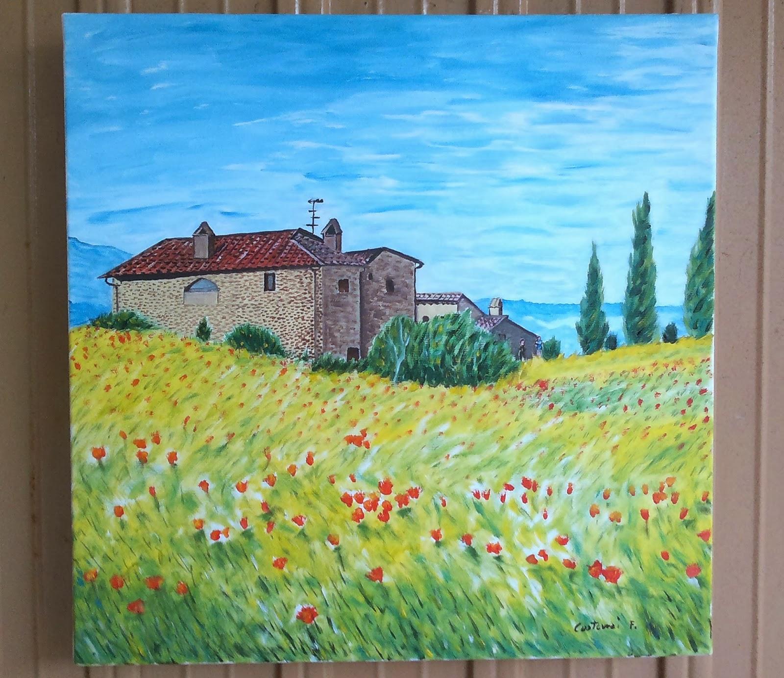Paintings quadro casali di campagna - Casali di campagna ...