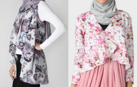 Model baju hamil muslimah motif batik modern