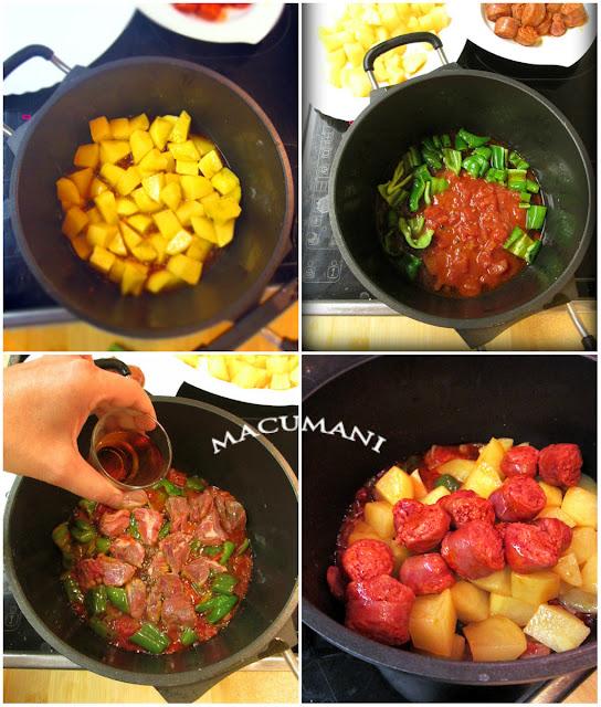 como hacer un guiso de patatas