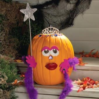 Purple Girly Pumpkin Idea