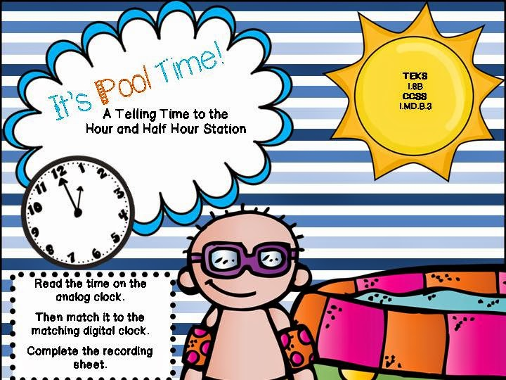 http://www.teacherspayteachers.com/Product/Swimming-into-Summer-7-Low-Prep-CCSS-and-TEKS-Aligned-Math-Stations-707848