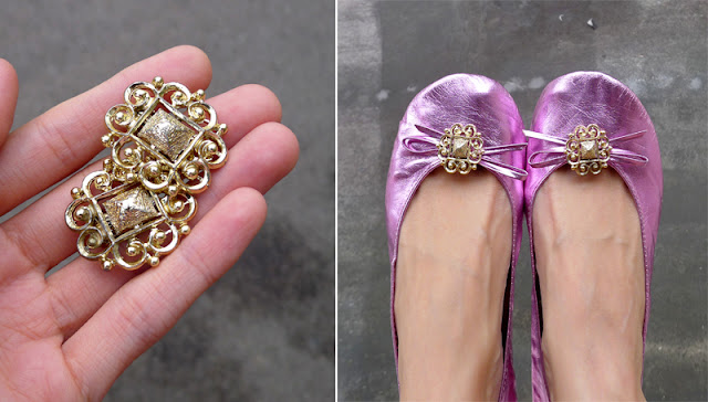 vintage earrings shoe clips