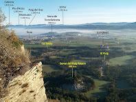 Panoràmica vers el nord-est des del Mirador del Roc Gros