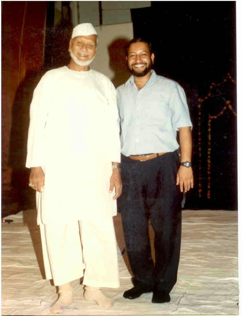 With Ustad Bismillah Khan Saheb