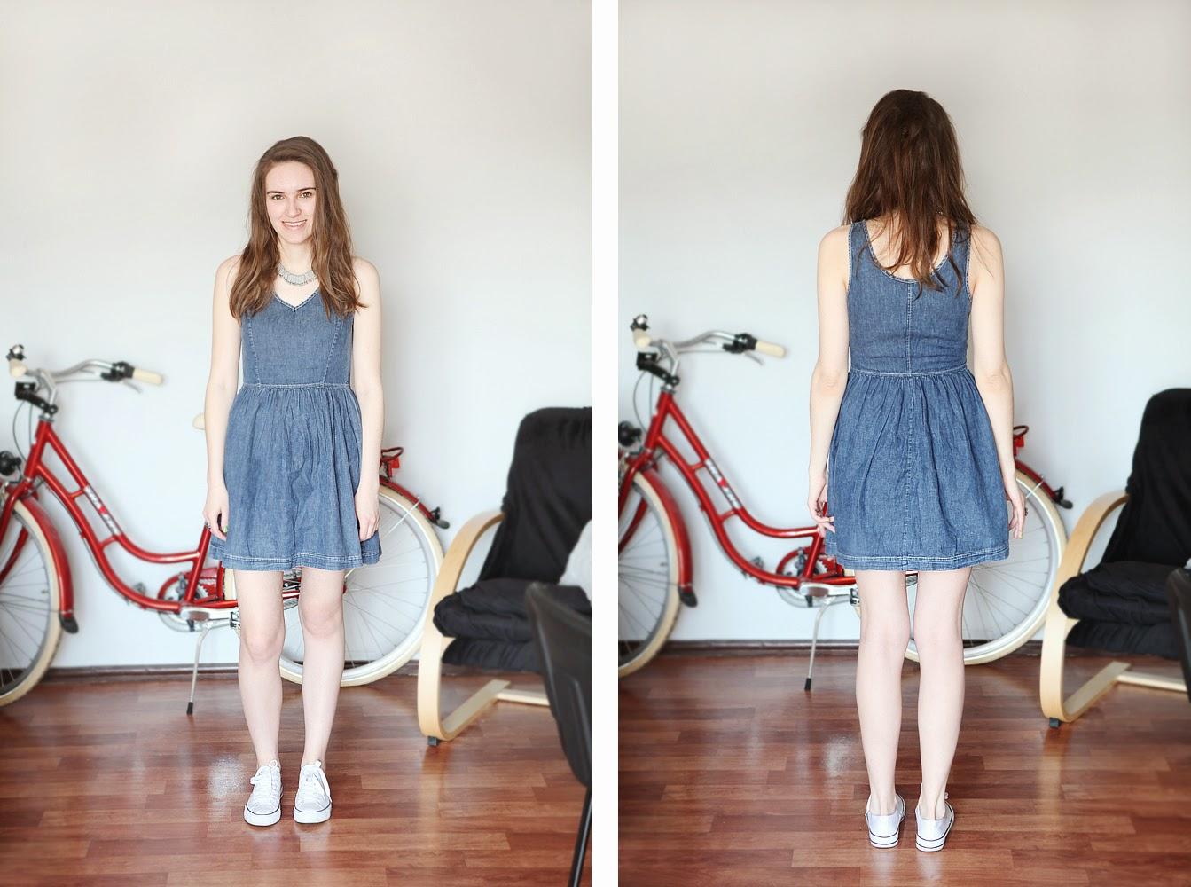 jeansowa sukienka jeans idealna bloga dzinsowa sukienka
