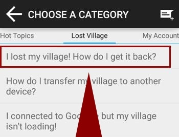 i lost my village! how i get it back