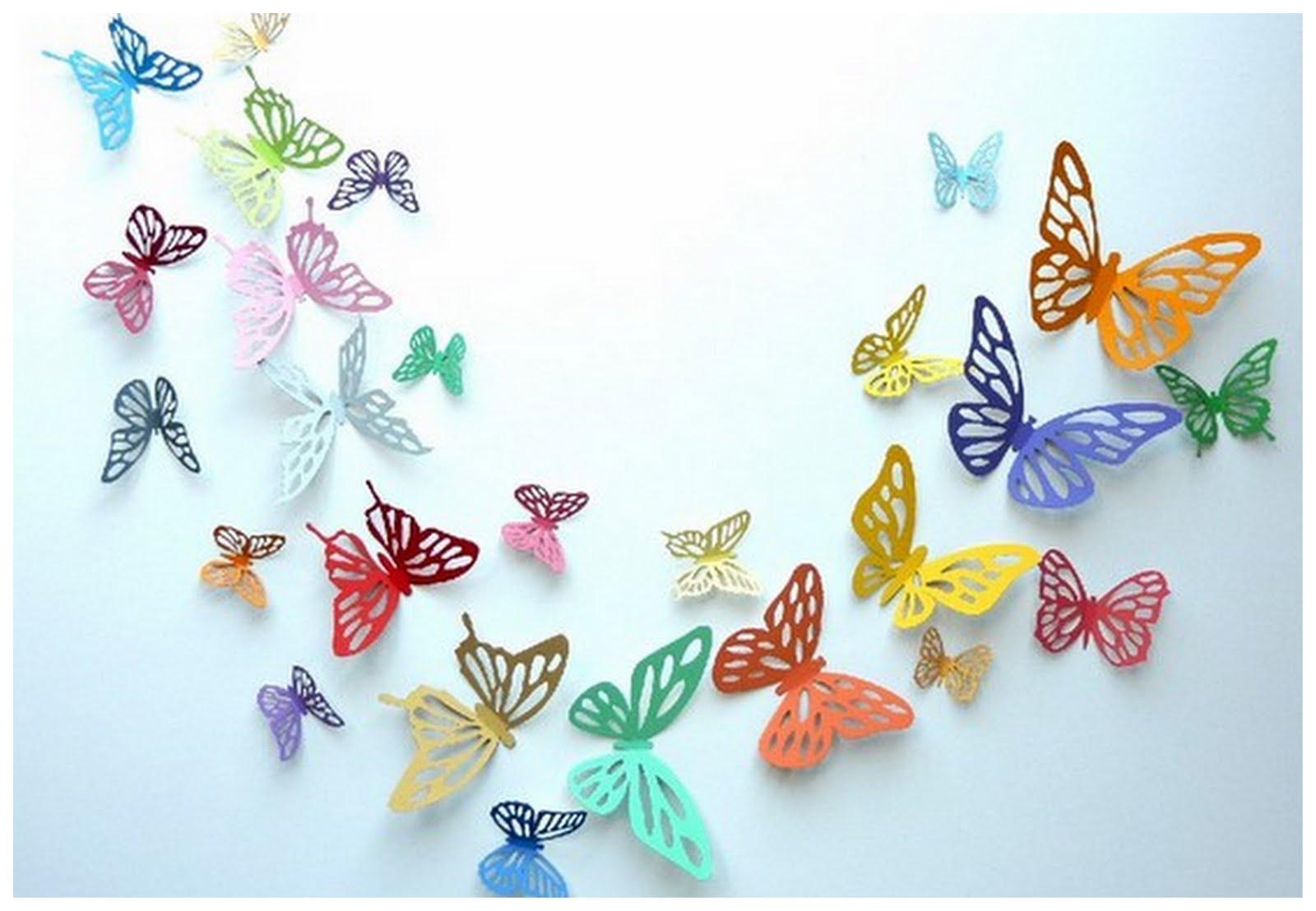 Трафарет бабочки своими руками фото