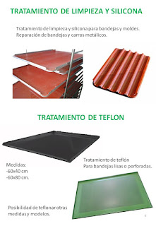 tratamientos silicona y limpieza de bandejas y carros. teflon.
