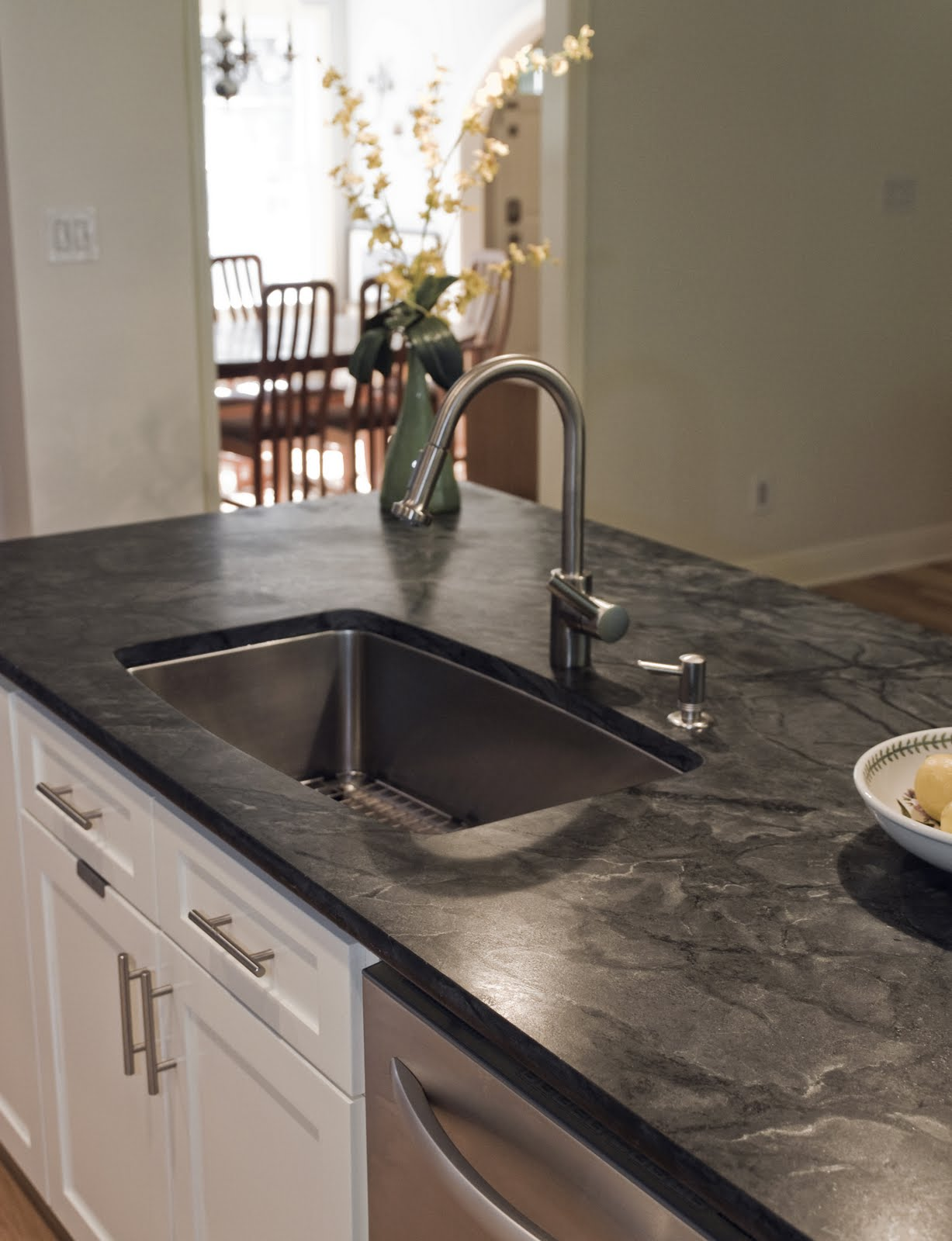 Like All Natural Stone, Soapstone Is Susceptible To Damage And The  Kitchenu0027s Wear And Tear; However, Soapstone Is Denser Than Many Competitors  Such As ...