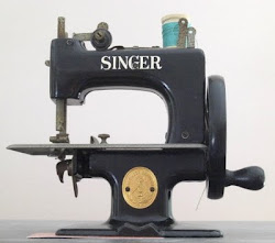Child's vintage sewing machine.