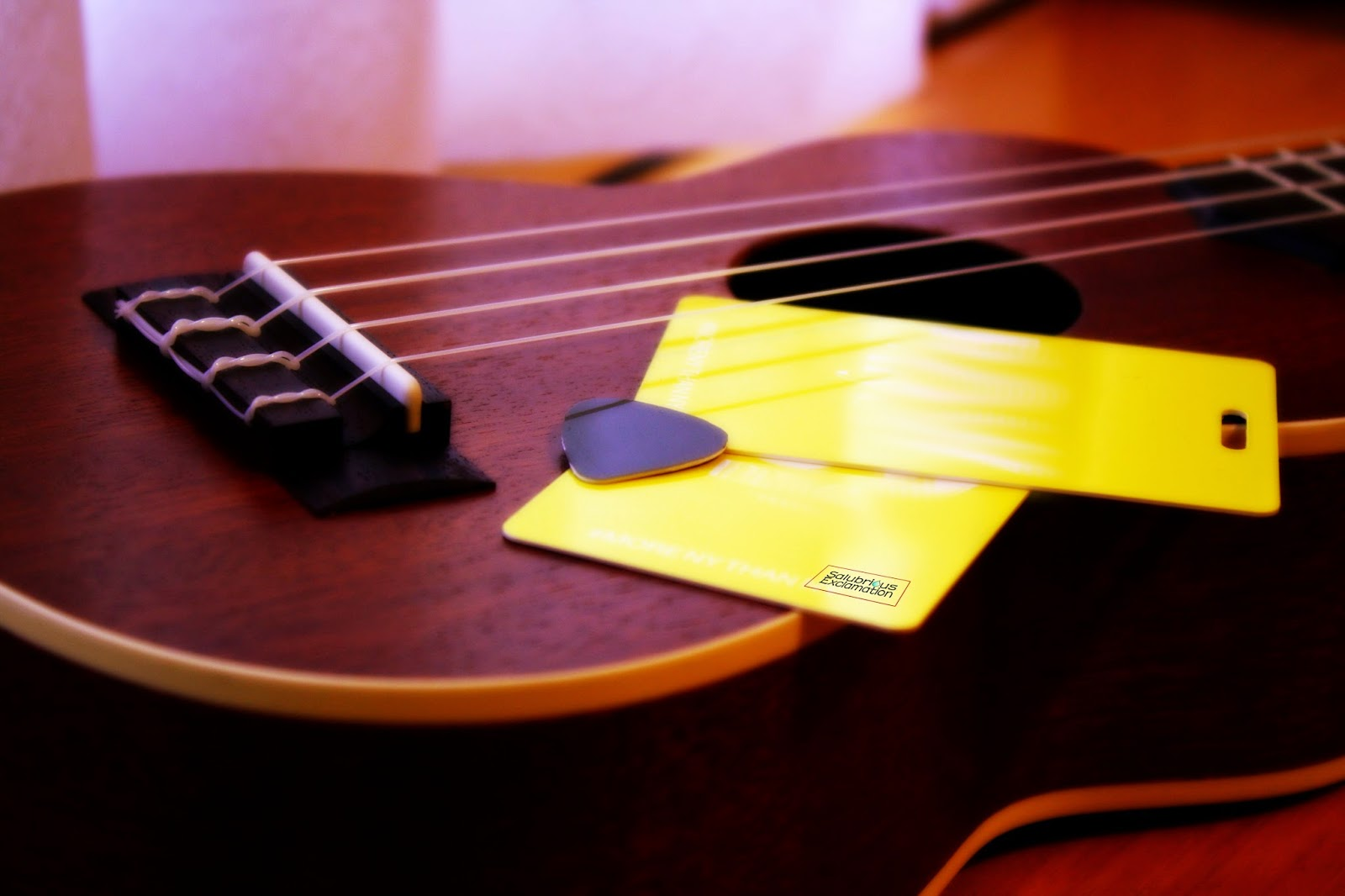 Make a Guitar/Ukulele Pick Out of Credit Cards