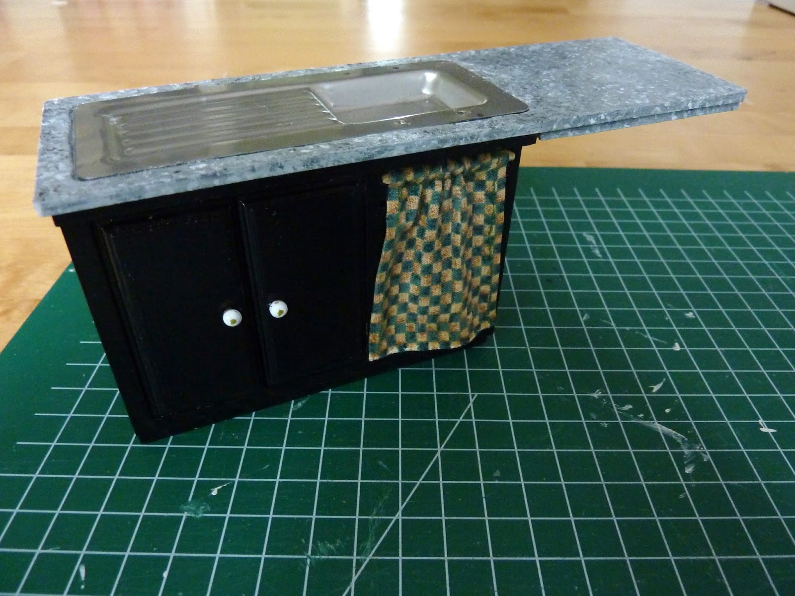 Marijke 39 s thuis in het klein keukenblok kitchenunit for Klein keukenblok