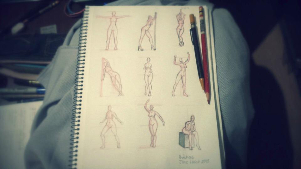 Fotografía de dibujos de poses.